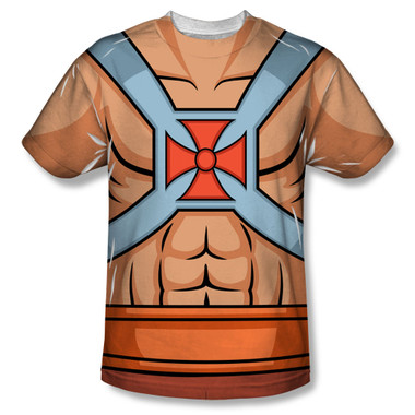 Image for Masters of the Universe Sublimated T-Shirt - He Man Costume 100% Polyester