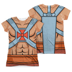 Image Closeup for Masters of the Universe Girls Sublimated T-Shirt - He Man Costume