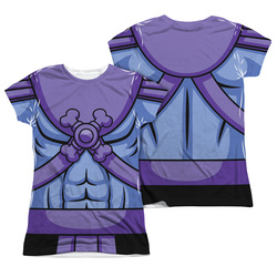 Image Closeup for Masters of the Universe Girls Sublimated T-Shirt - Skeletor Costume