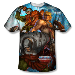Image for Masters of the Universe Sublimated T-Shirt - Heroes and Villains 100% Polyester