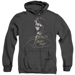 Image for Bettie Page Heather Hoodie - Whip It!