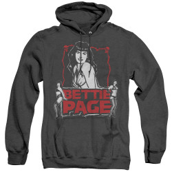 Image for Bettie Page Heather Hoodie - Scary Hot