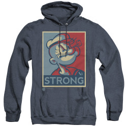 Image for Popeye the Sailor Heather Hoodie - Strong Motorcycle