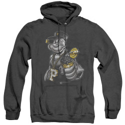 Image for Popeye the Sailor Heather Hoodie - Get More Spinach