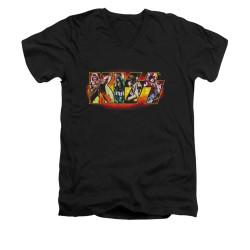 Image for Kiss V-Neck T-Shirt Stage Logo