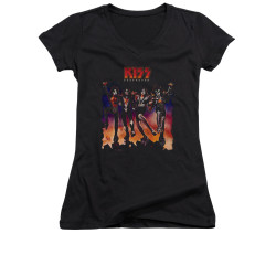 Image for Kiss Girls V Neck T-Shirt - Destroyer Cover
