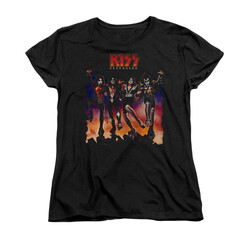 Image for Kiss Woman's T-Shirt - Destroyer Cover