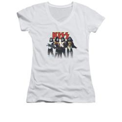 Image for Kiss Girls V Neck T-Shirt - Throwback Pose
