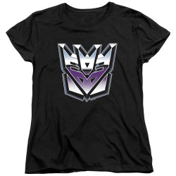 Image for Transformers Woman's T-Shirt - Decepticon Airbrush Logo