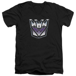 Image for Transformers T-Shirt - V Neck - Decepticon Airbrush Logo