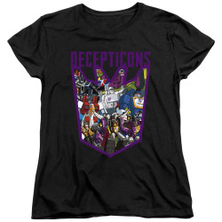 Image for Transformers Woman's T-Shirt - Decepticon Collage