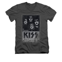 Image for Kiss V-Neck T-Shirt Live