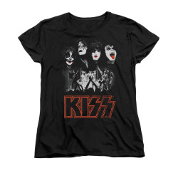 Image for Kiss Woman's T-Shirt - Rock the House