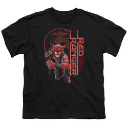 Image for Power Rangers Youth T-Shirt - Beast Morphers Red Ranger