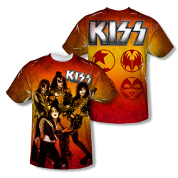 Image Closeup for Kiss Sublimated Youth T-Shirt - Fire Pose