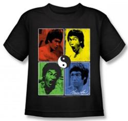 Image for Bruce Lee Kids T-Shirt - Color Block