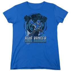 Image for Power Rangers Woman's T-Shirt - Beast Morphers Blue Ranger