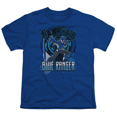 Image for Power Rangers Youth T-Shirt - Beast Morphers Blue Ranger