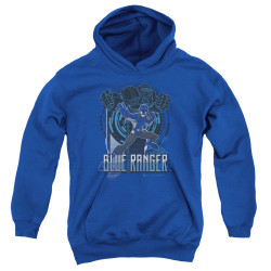 Image for Mighty Morphin Power Rangers Youth Hoodie - Beast Morphers Blue Ranger