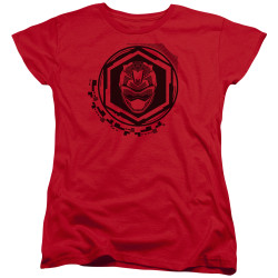 Image for Power Rangers Woman's T-Shirt - Beast Morphers Red Ranger Icon