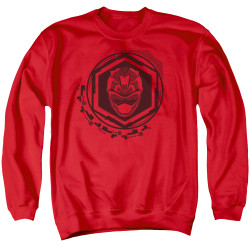 Image for Mighty Morphin Power Rangers Crewneck - Beast Morphers Red Ranger Icon