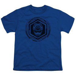 Image for Power Rangers Youth T-Shirt - Beast Morphers Blue Ranger Icon
