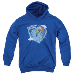 Image for My Little Pony Youth Hoodie - Friendship is Magic Rainbow Dash