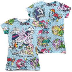 Image for My Little Pony Girls Sublimated T-Shirt - Friendship is Magic Pony Comic