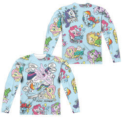 Image for My Little Pony Sublimated Long Sleeve - Friendship is Magic Pony Comic