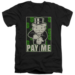 Image for Monopoly T-Shirt - V Neck - Pay Me