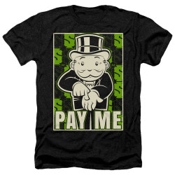 Image for Monopoly Heather T-Shirt - Pay Me