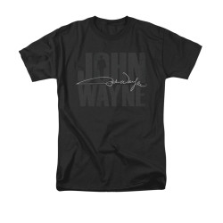 Image for John Wayne T-Shirt - Silhouette Signature