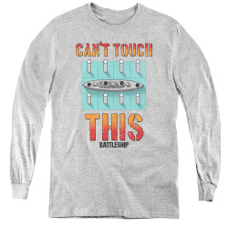 Image for Battleship Youth Long Sleeve T-Shirt - Can't Touch This