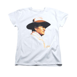 Image for John Wayne Woman's T-Shirt - Painted Profile