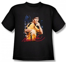 Image for Bruce Lee Youth T-Shirt - Yellow Jumpsuit