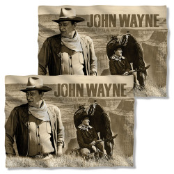 Image Closeup for John Wayne Pillow Case - Stoic Cowboy
