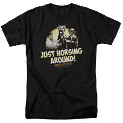 Image for Abbott & Costello T-Shirt - Horsing Around