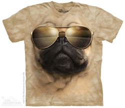 Image for The Mountain T-Shirt - Aviator Pug