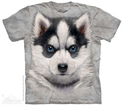 Image for The Mountain T-Shirt - Siberian Husky Puppy