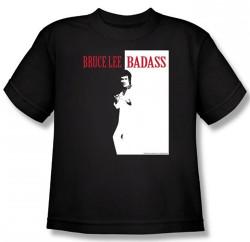 Image for Bruce Lee Youth T-Shirt - Badass