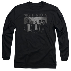 Image for Night Riots Long Sleeve T-Shirt - Greyscale