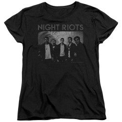 Image for Night Riots Woman's T-Shirt - Greyscale