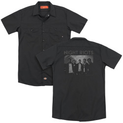 Image for Night Riots Dickies Work Shirt - Greyscale