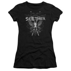 Image for Seether Juniors Premium Bella T-Shirt - Suffer