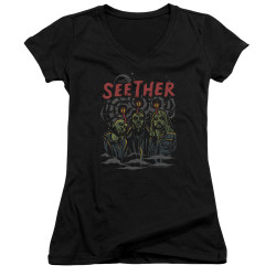 Image for Seether Girls V Neck T-Shirt - Mind Control
