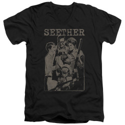 Image for Seether V Neck T-Shirt - Happy Family