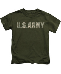 Image for U.S. Army Kids T-Shirt - Camo Logo