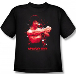 Image for Bruce Lee Youth T-Shirt - The Shattering Fist