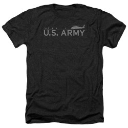 Image for U.S. Army Heather T-Shirt - Helicopter