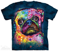 Image for The Mountain T-Shirt - Russo Pug